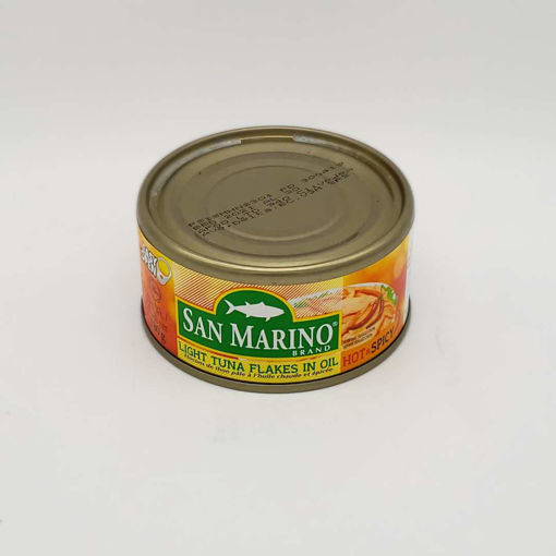 Picture of SAN MARINO LIGHT TUNA FLAKES IN OIL HOT & SPICY 180G
