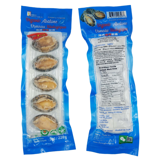 Picture of SEARAY FOODS ORGANIC ABALONE 5 PIECES - 220 GRAMS
