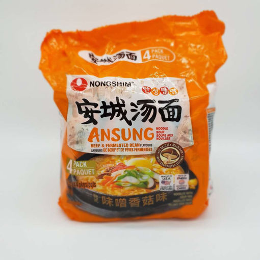 Picture of NONGSHIM ANSUNG TANG BEEF & FERMENTED BEAN FLAVOUR 4X125G