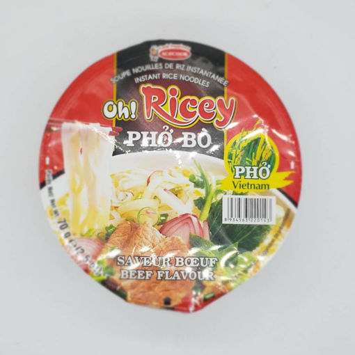 Picture of RICEY BEEF FLAVOUR PHO BO NOODLES 70G