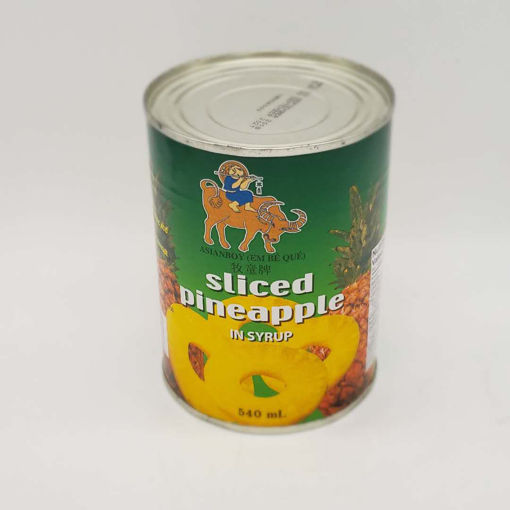 Picture of ASIAN BOY SLICED PINEAPPLE IN SYRUP 540ML
