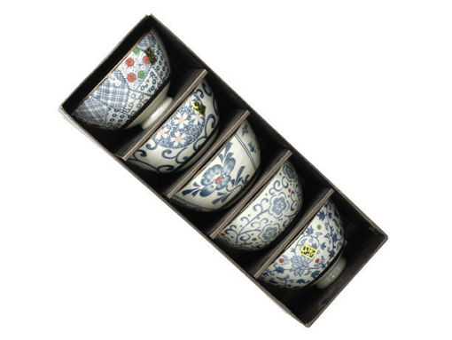 "Picture of 5-pc ""Classic"" Japanese Style Porcelain Bowl Set"